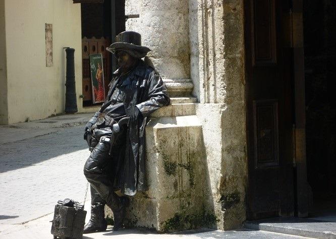 A street performer in Havana, Cuba