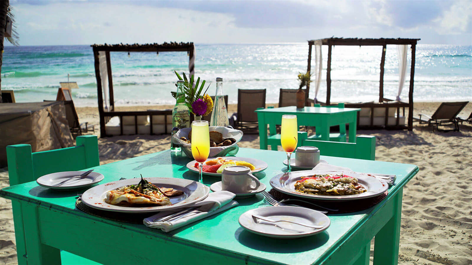 Beach meal at Hip Hotel Tulum