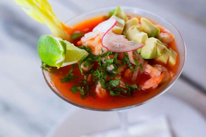 Ceviche at Hip Hotel Tulum