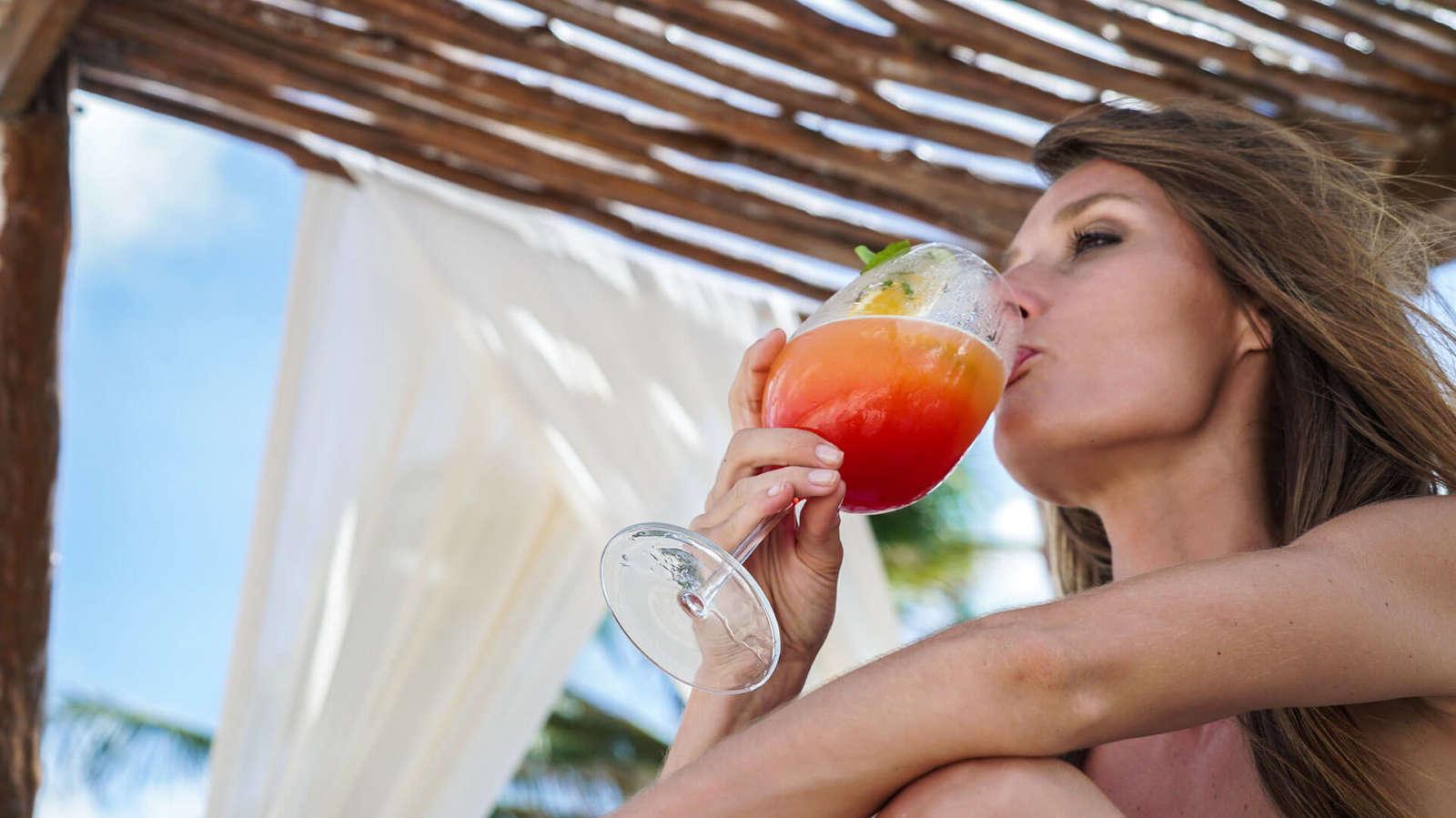 Enjoying a cocktail at Hip Hotel Tulum