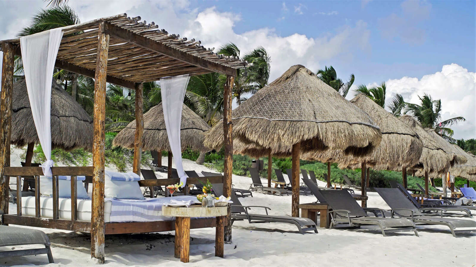 Daybeds at Hip Hotel Tulum