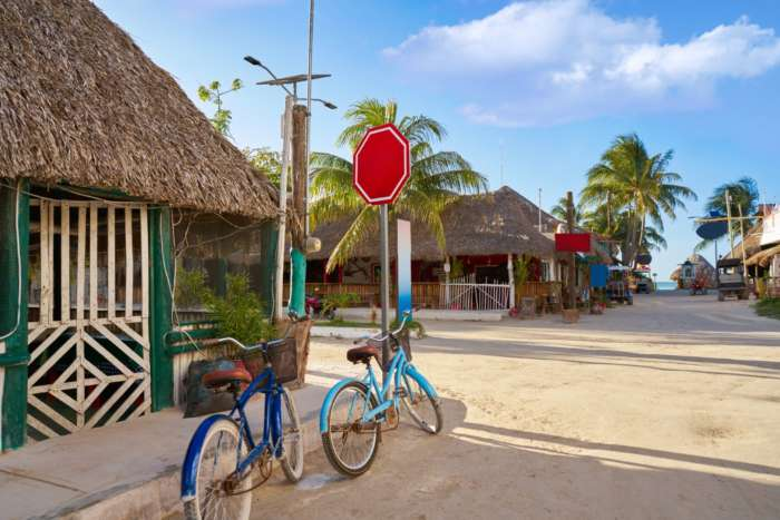 Bikes in town Holbox, Mexico