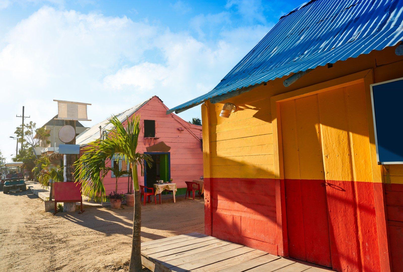 Street scene in Holbox, Mexico