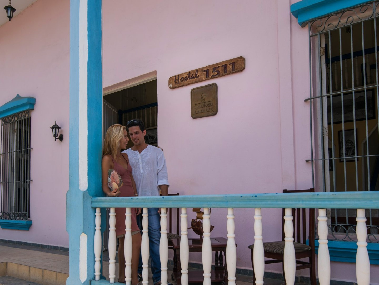 Outside terrace of Hostal 1511