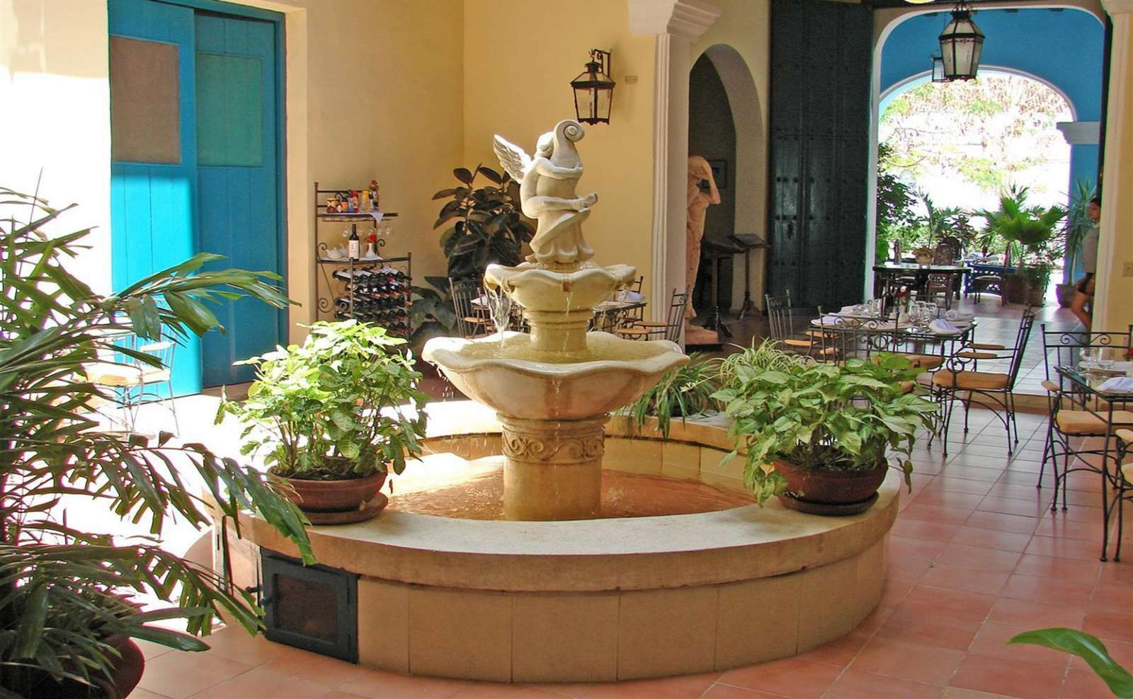 Fountain at Hostal del Rijo