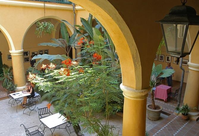 Courtyard at Hostal Conde de Villanueva in Old Havana