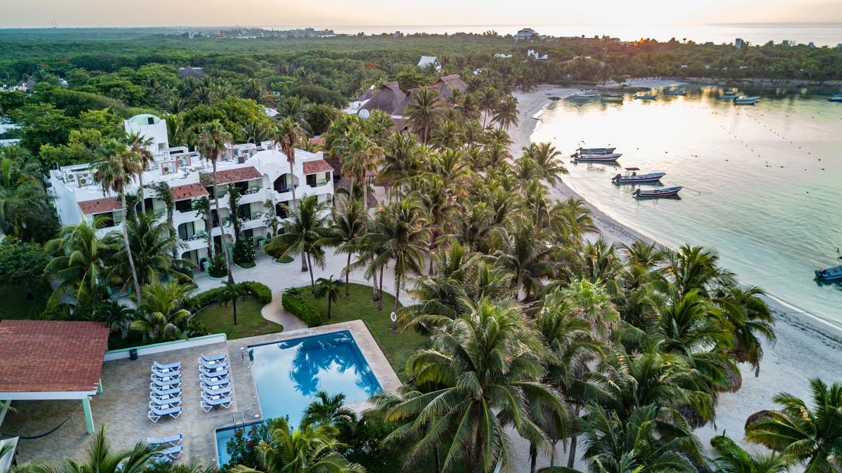 Aerial view of Hotel Akumal Caribe