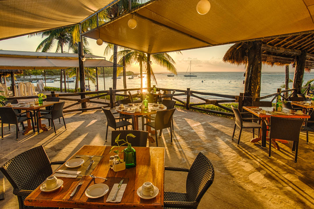 Sunset restaurant at Hotel Akumal Caribe