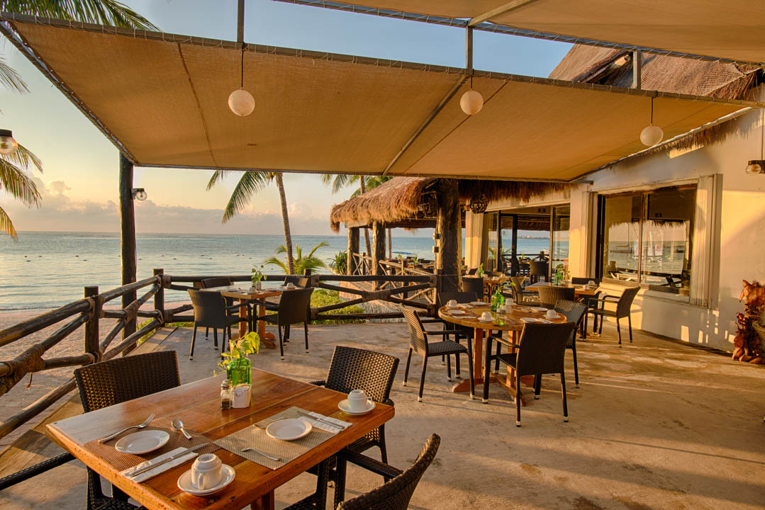 Seaview restaurant at Hotel Akumal Caribe