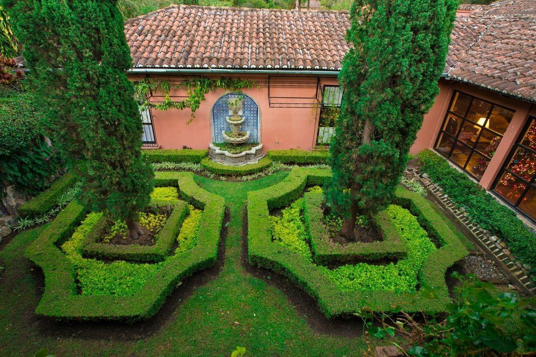 Courtyard garden at Hotel Atitlan