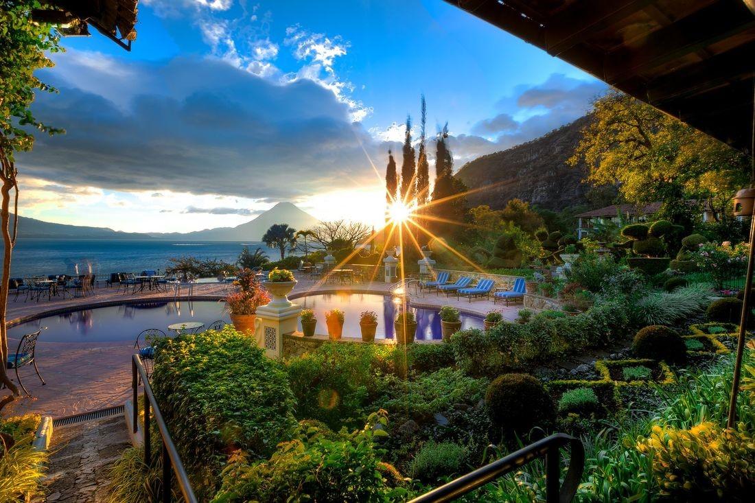 Swimming pool at Hotel Atitlan in Guatemala