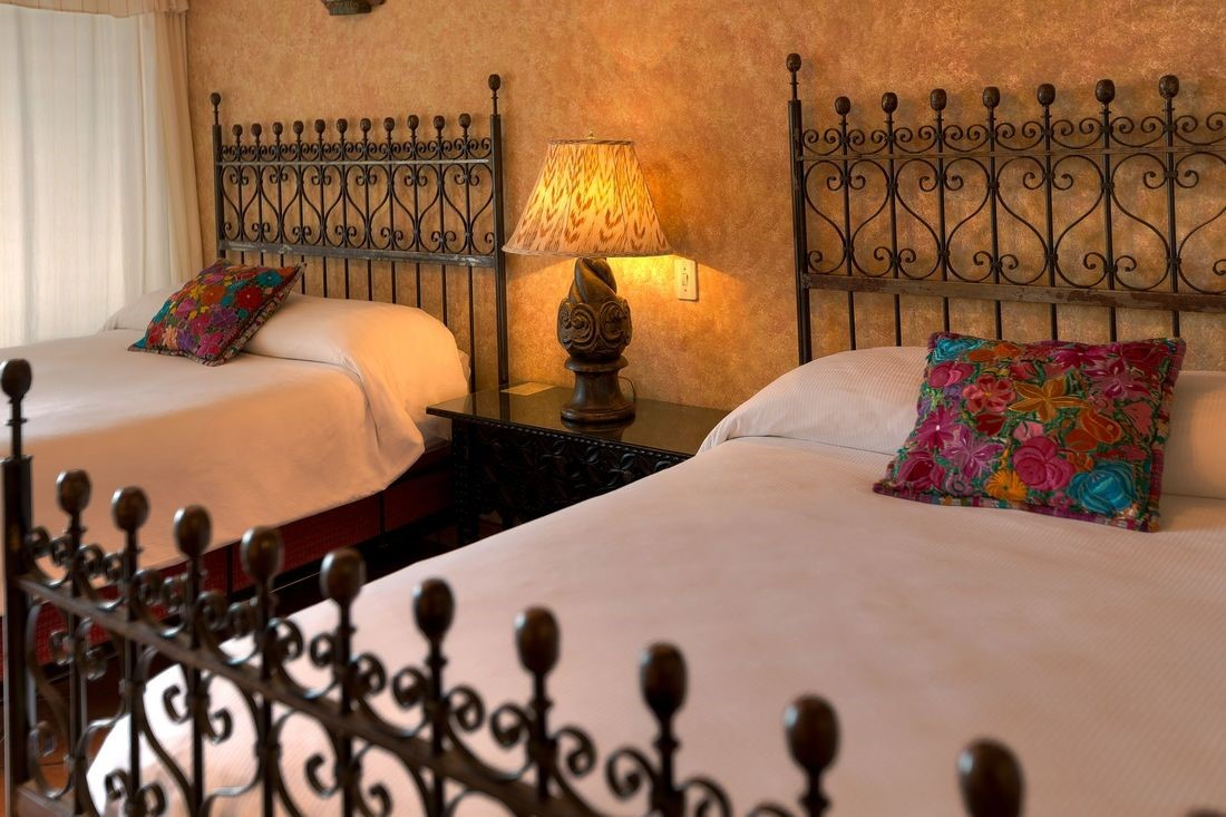 Twin room at Hotel Atitlan
