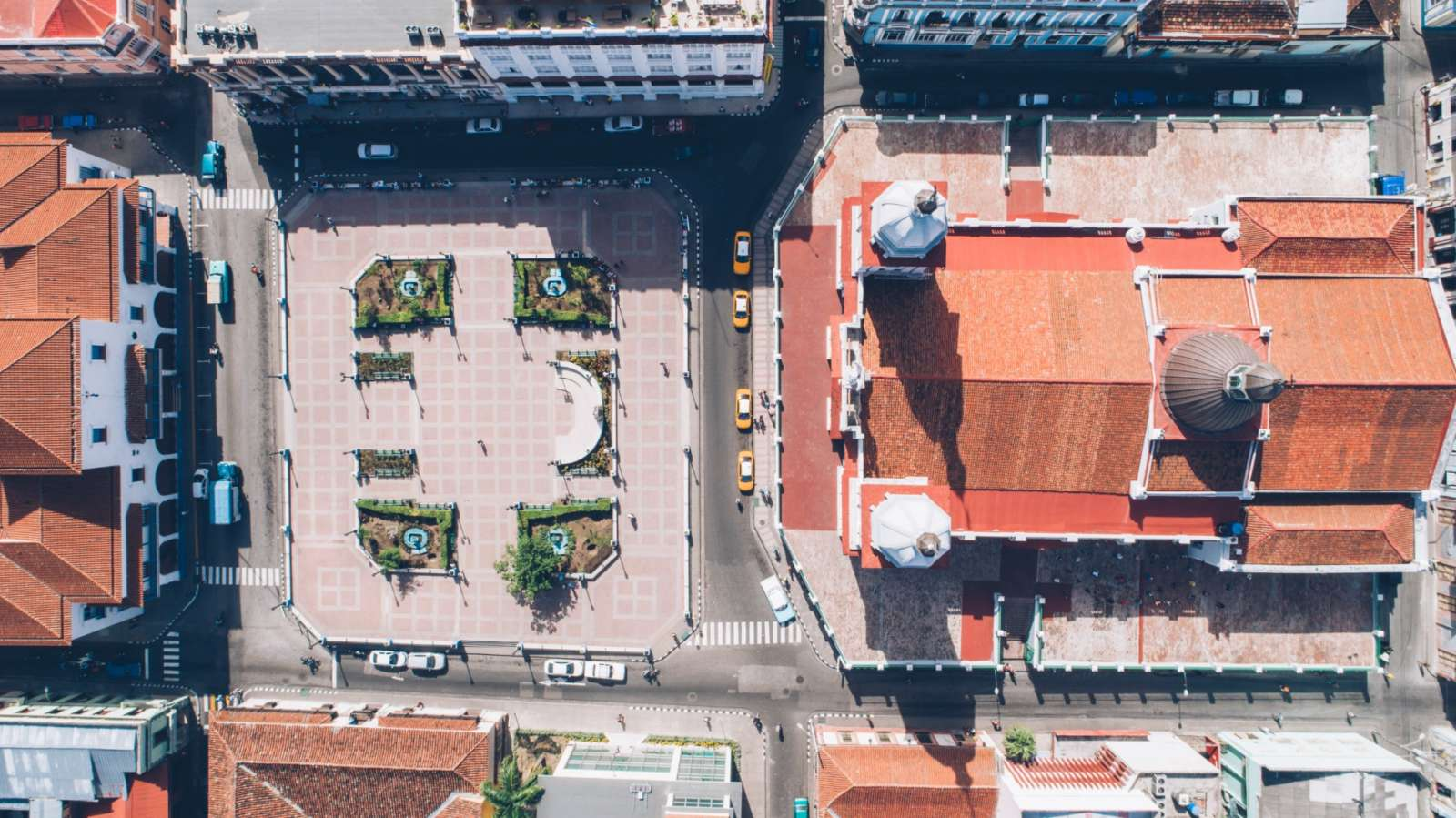 Aerial view above Iberostar Casa Granda