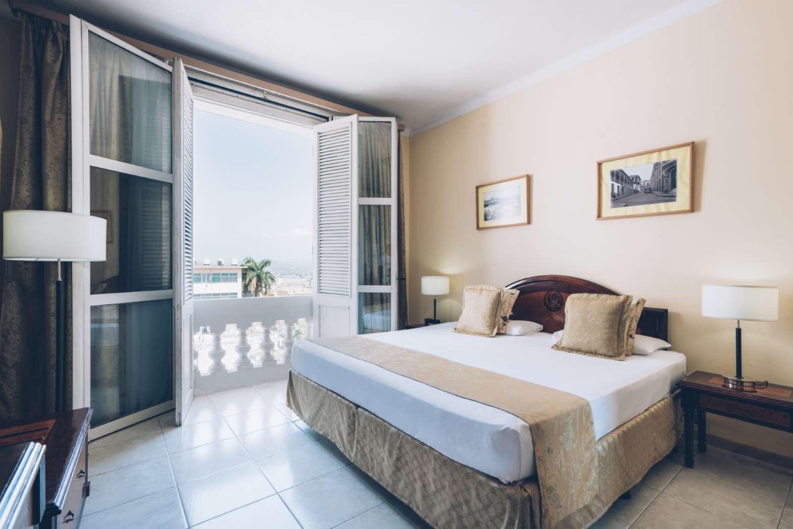 Bedroom with balcony at Iberostar Casa Granda