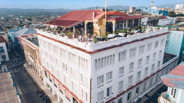 Aerial view of rooftop terrace at Iberostar Casa Granda
