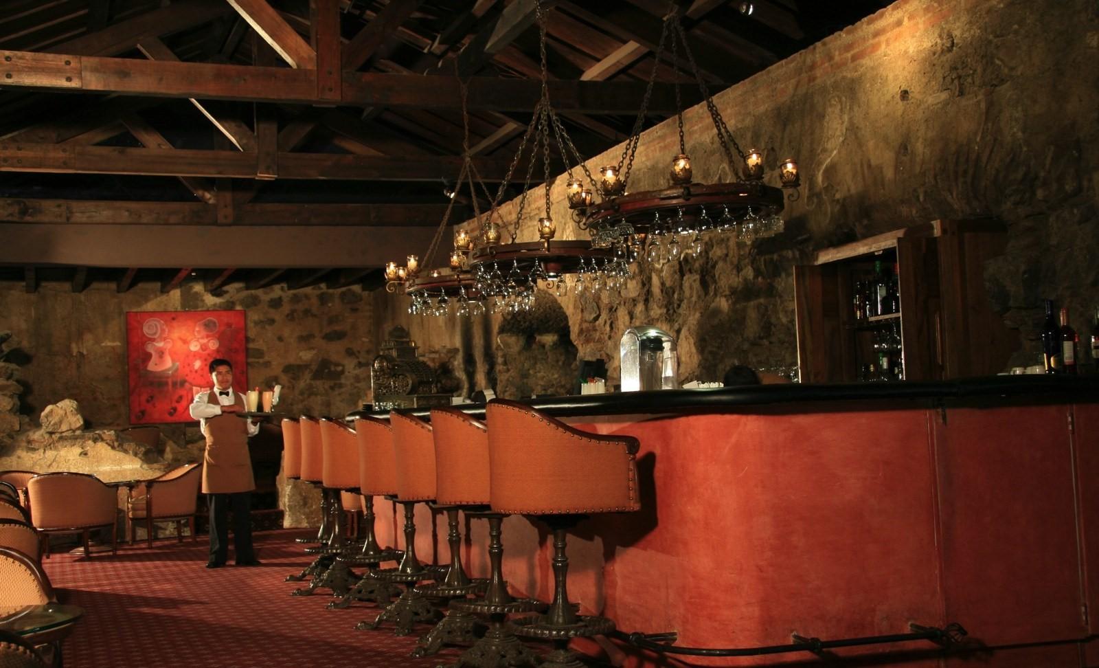Bar at Hotel Casa Santo Domingo in Antigua
