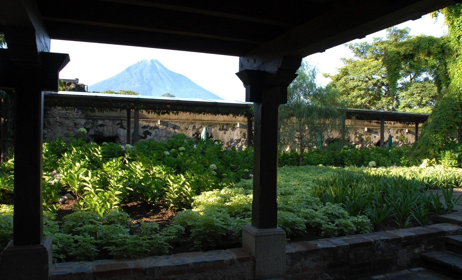 Vegetable garden at Hotel Casa Santo Domingo in Antigua