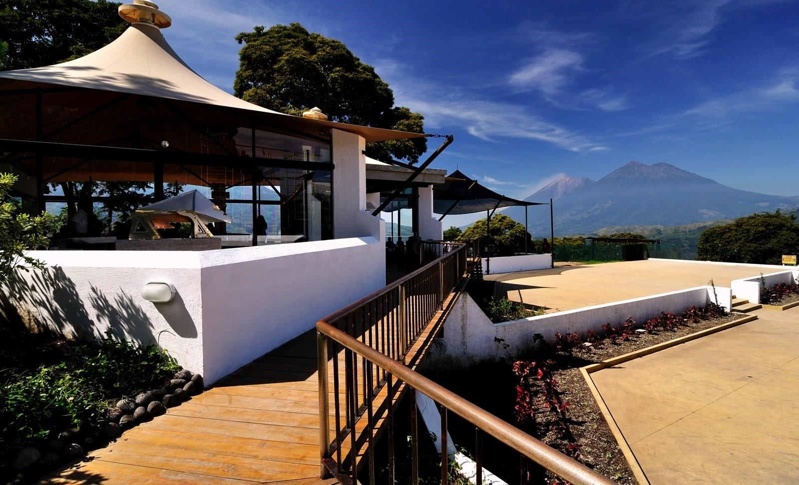Rooftop terrace at Hotel Casa Santo Domingo in Antigua