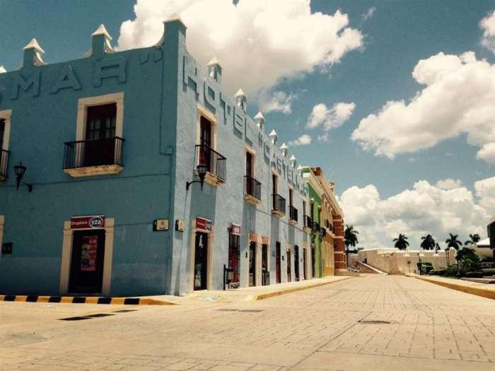 Exterior of Hotel Castelmar Campeche