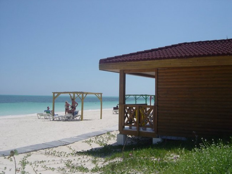 Seaview bungalow at Hotel Cayo Levisa in Cuba