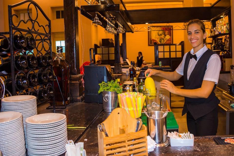 Barmaid at Hotel Central in Santa Clara