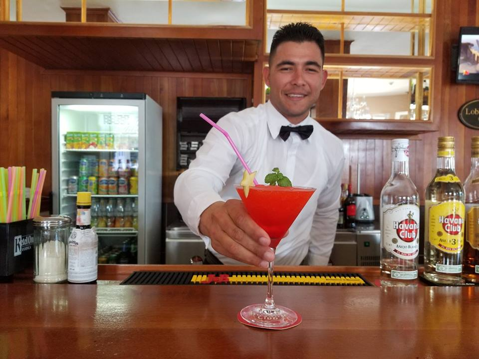 Barman at Hotel Central in Vinales, Cuba