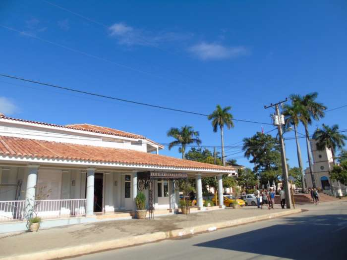 Exterior of Hotel Central in Vinales, Cuba