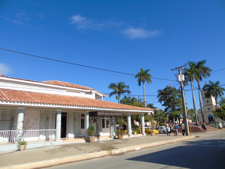 Exterior of Hotel Central in Vinales, Cuba