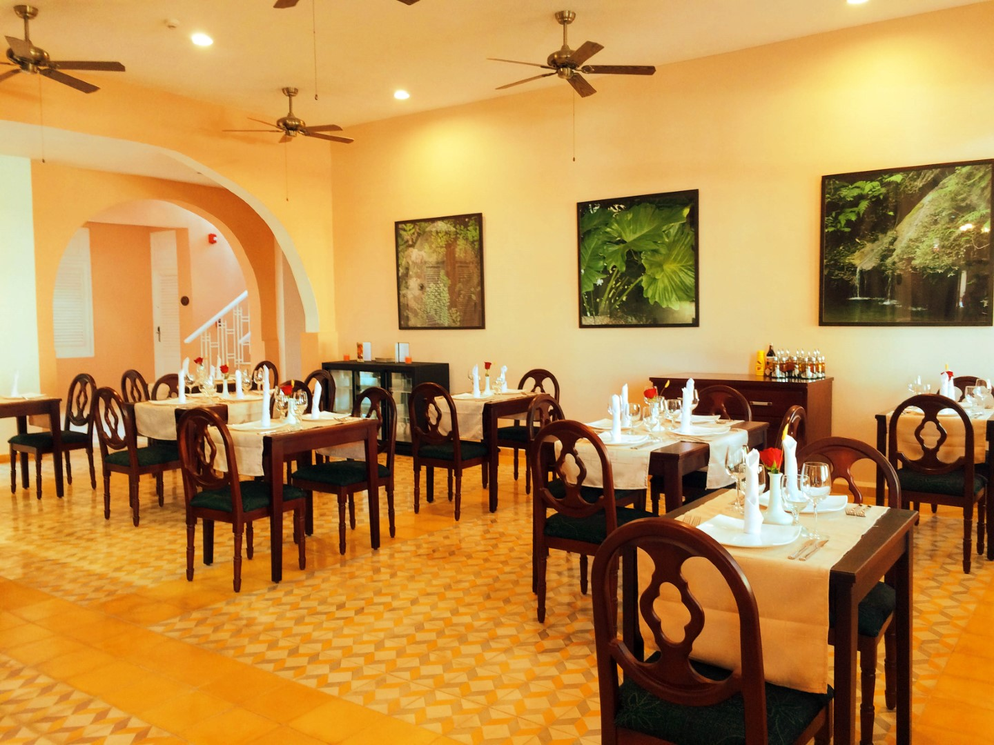 Restaurant at Hotel Central in Vinales, Cuba