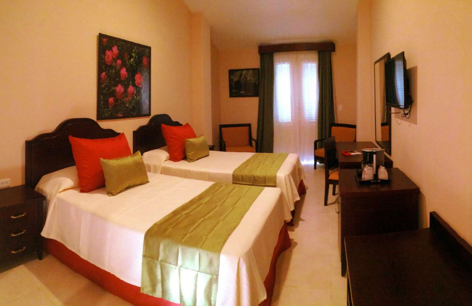 Twin room at Hotel Central in Vinales, Cuba