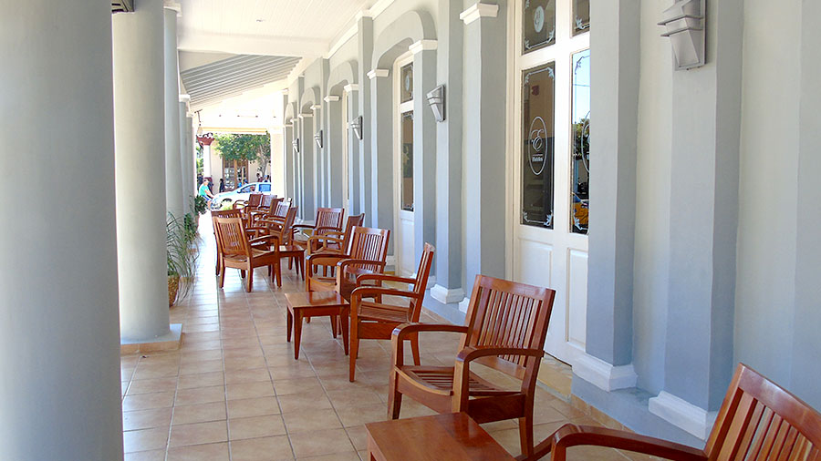 Terrace at Hotel Central in Vinales, Cuba