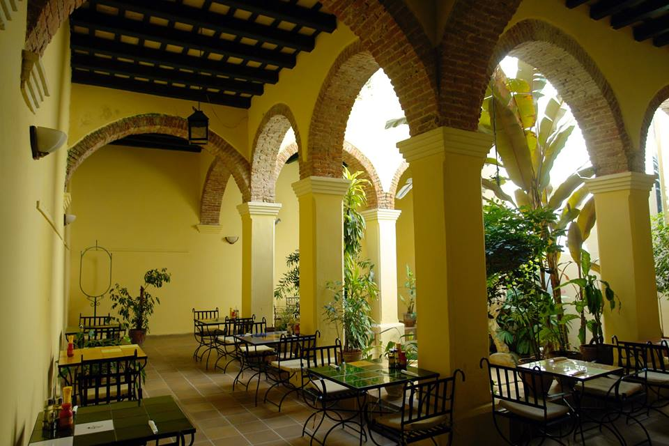 Cafe at the Hotel Conde de Villanueva in Havana, Cuba