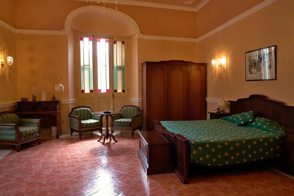 Large room at the Hotel Conde de Villanueva in Havana, Cuba