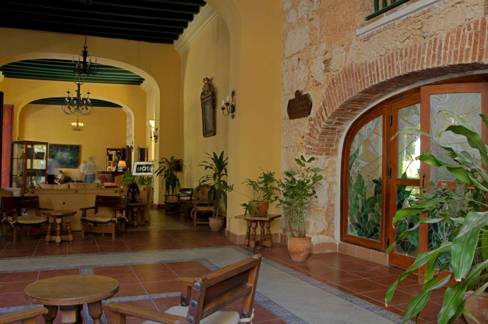 Lobby at the Hotel Conde de Villanueva in Havana, Cuba