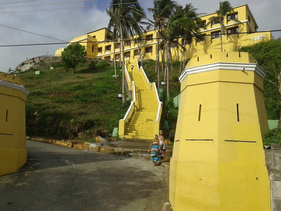 Steps leading up to Hotel El Castillo
