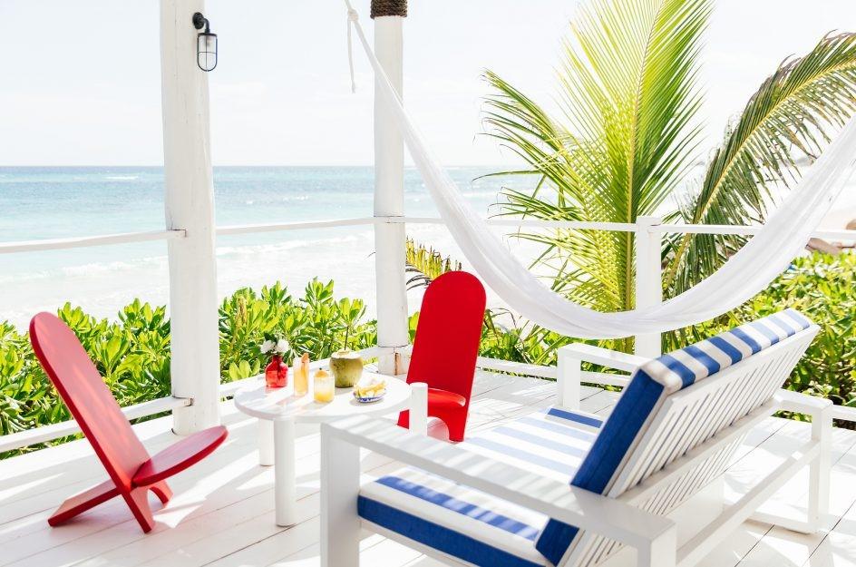 Balcony with seaview at Hotel Esencia