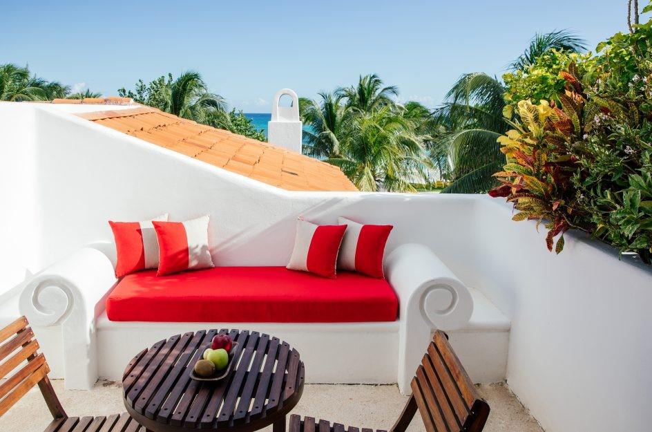 Room balcony at Hotel Esencia
