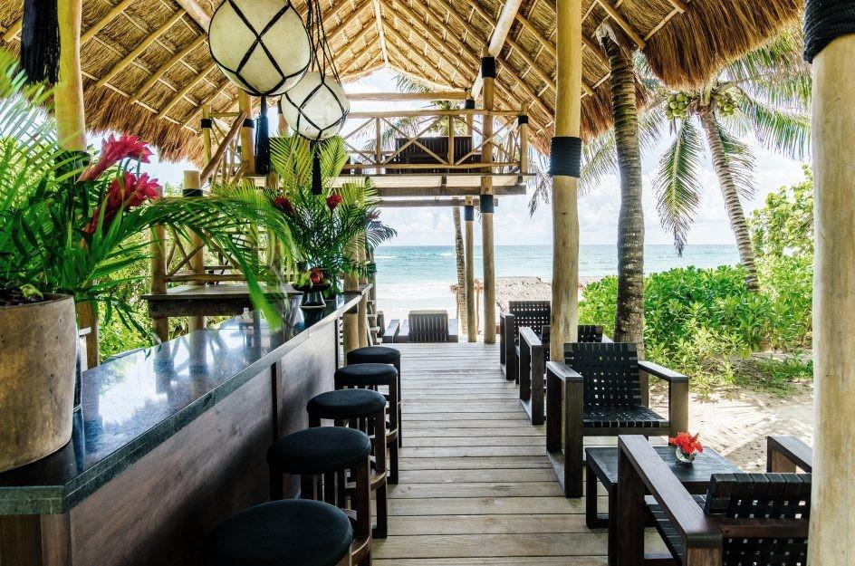 Beach bar at Hotel Esencia