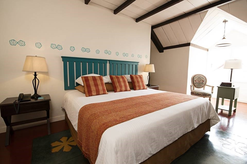 Double bedroom at Hotel Isla de Flores