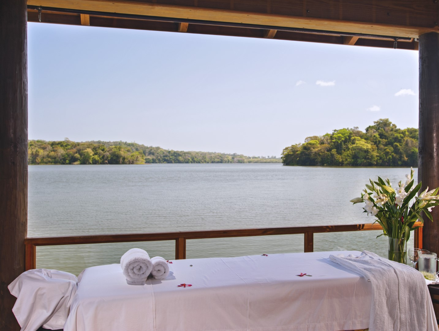 Massage overlooking lake at Hotel Las Lagunas, Guatemala