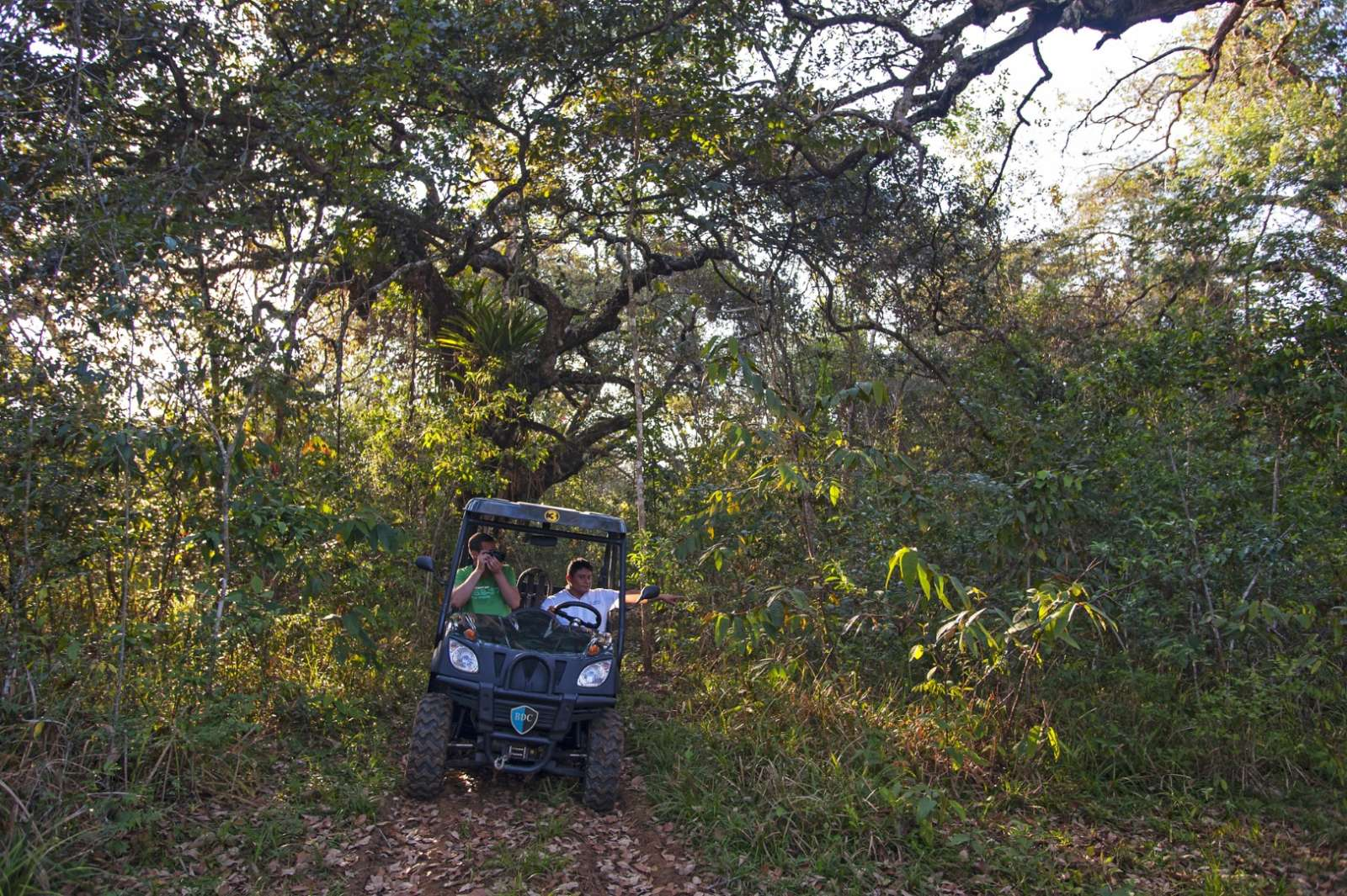 Nature park buggy ride at Hotel Las Lagunas, Guatemala