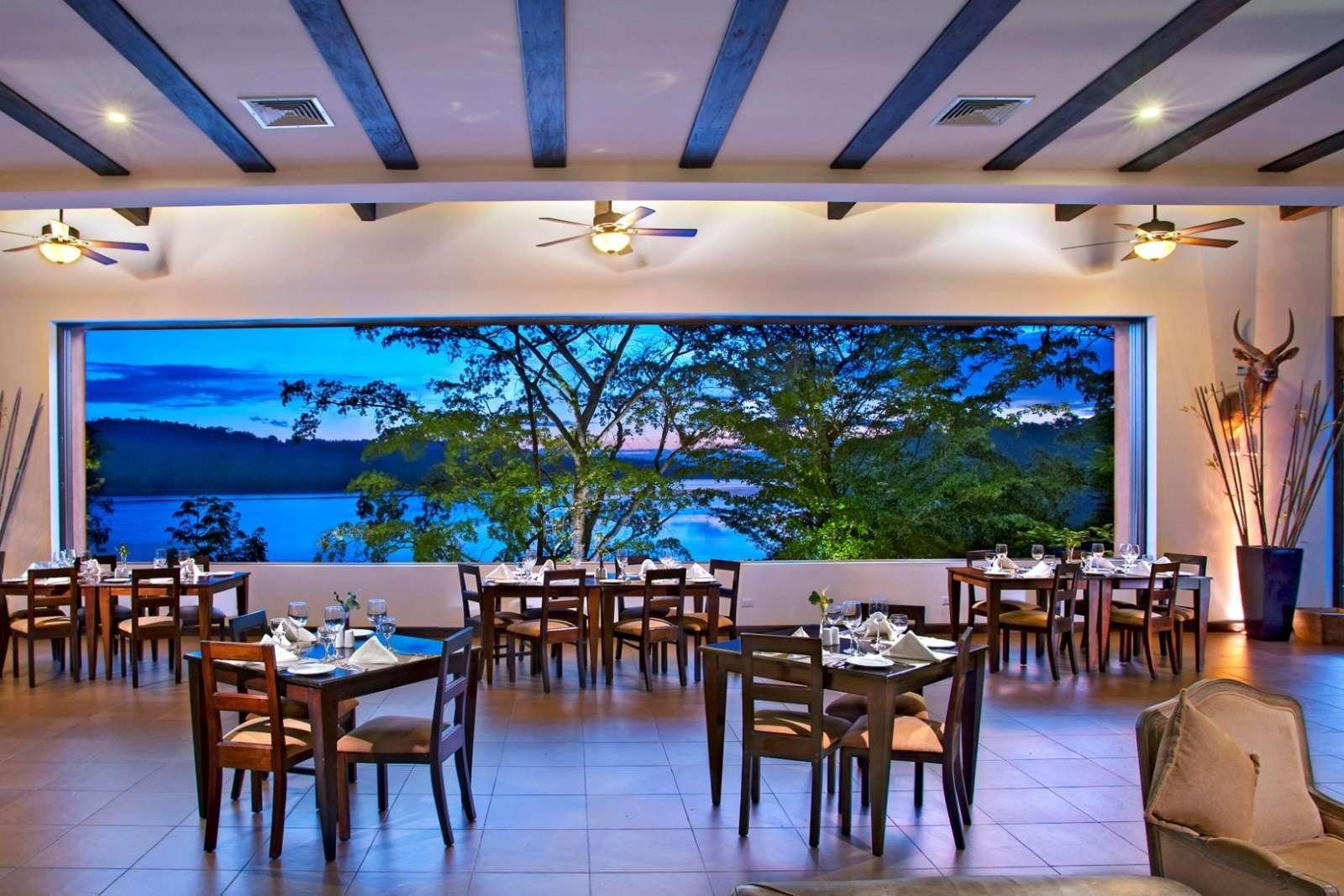 Restaurant at Hotel Las Lagunas, Guatemala