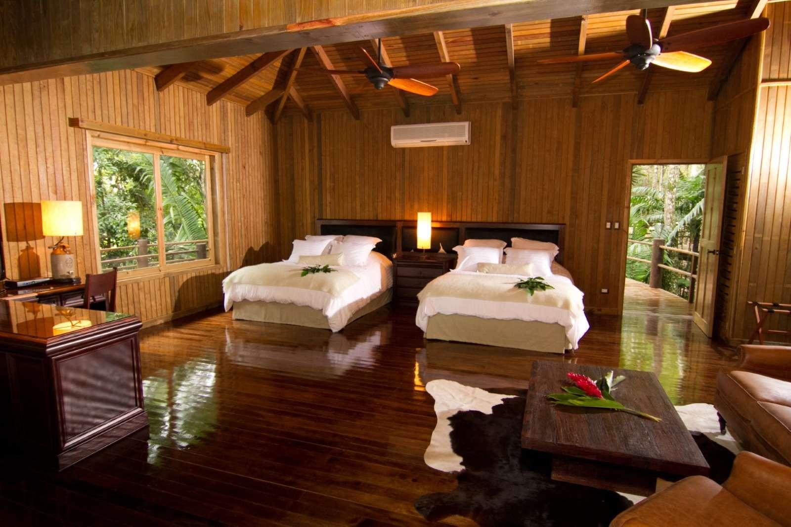 Twin room at Hotel Las Lagunas, Guatemala