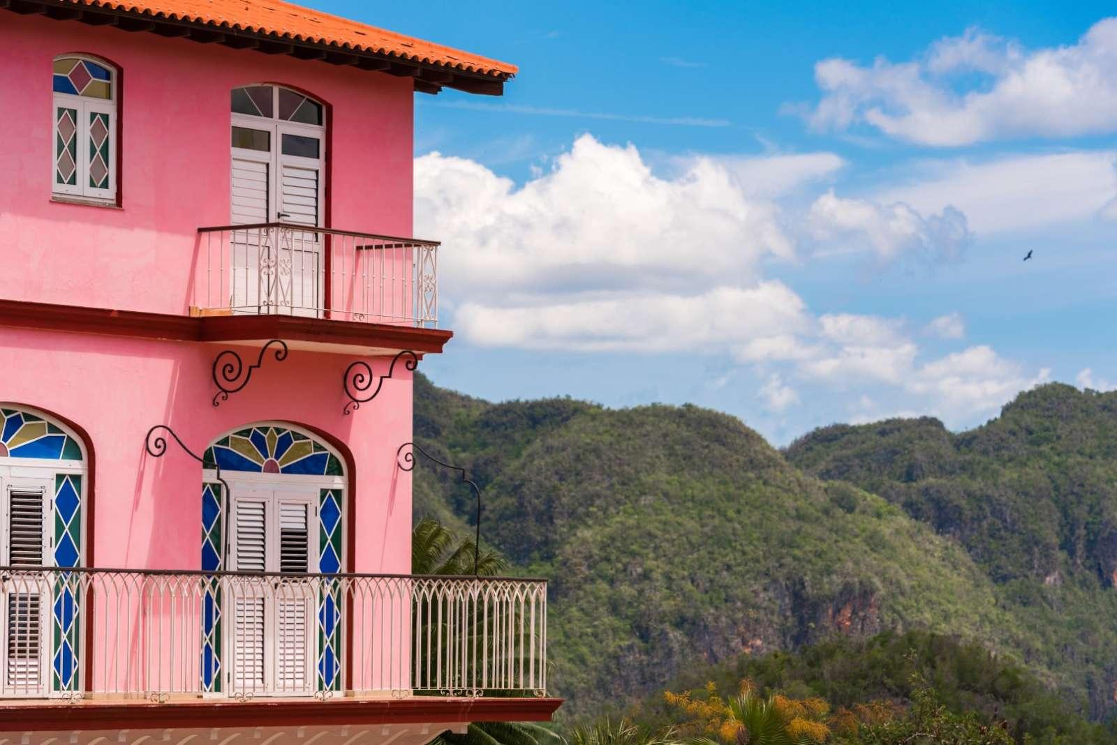 Corner of Hotel Los Jazmines in Vinales, Cuba