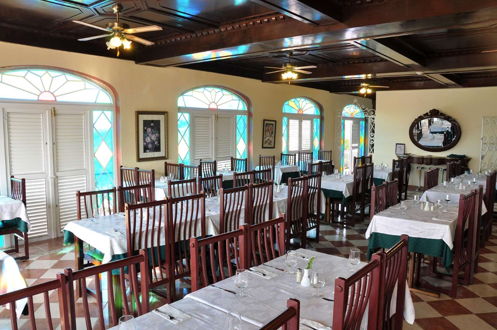 Restaurant at Hotel Los Jazmines in Vinales, Cuba