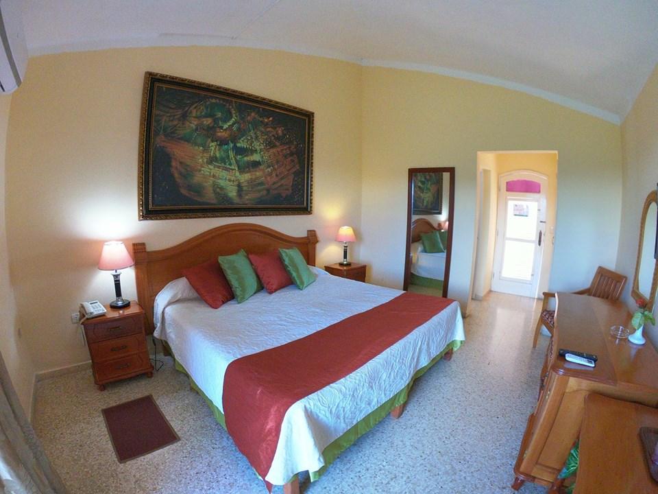 Double room at Hotel Los Jazmines in Vinales, Cuba
