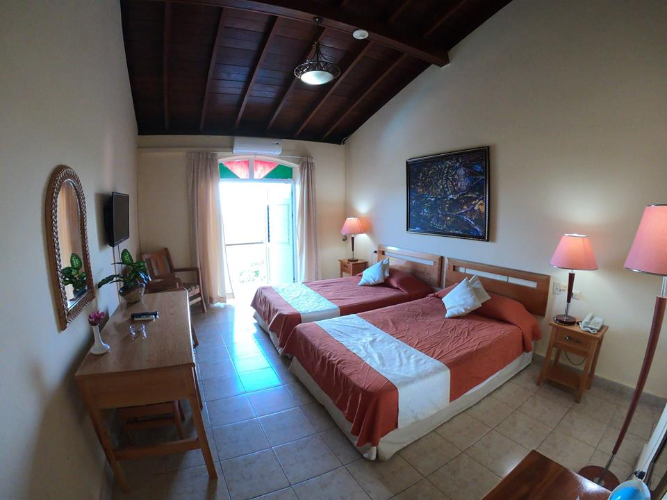 Twin room at Hotel Los Jazmines in Vinales, Cuba