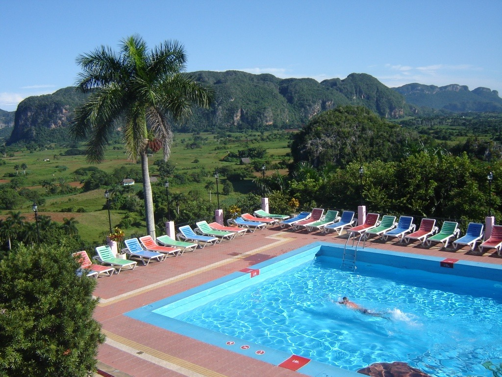 Swimming pool at Hotel Los Jazmines in Vinales, Cuba