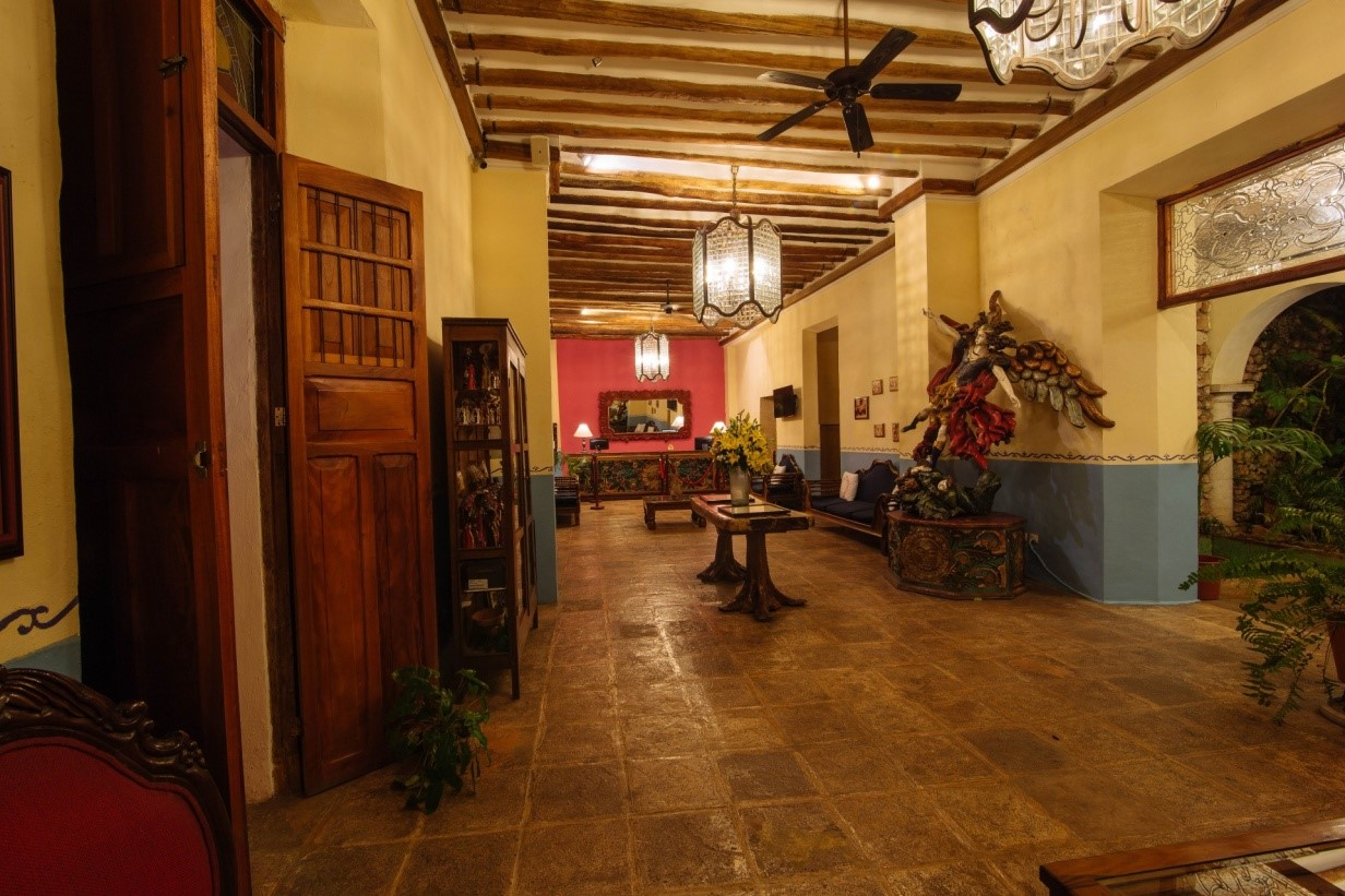 Corridor at Hotel Meson Del Marques