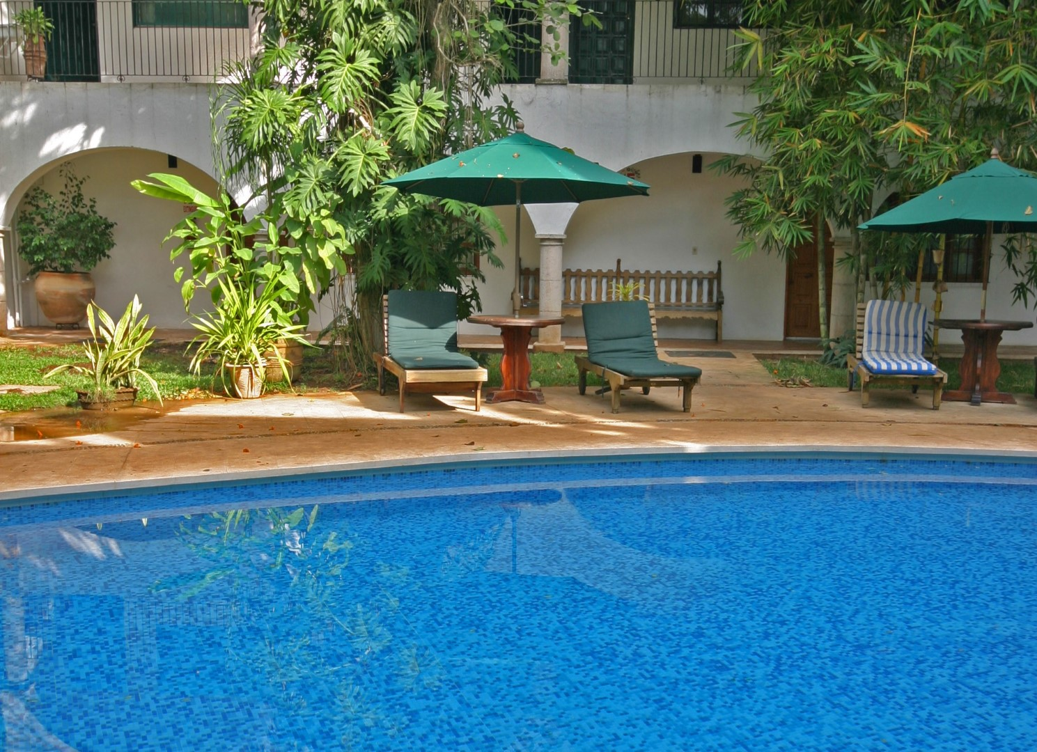 Swimming pool at Hotel Meson Del Marques
